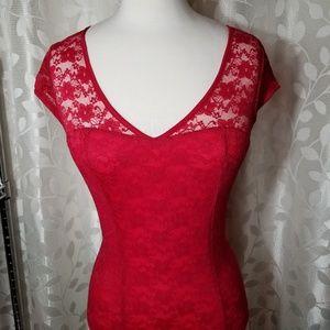 Tops - HOT Red Bodysuit!!